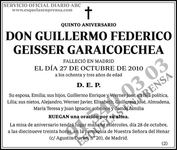 Guillermo Federico Geisser Garaicoechea